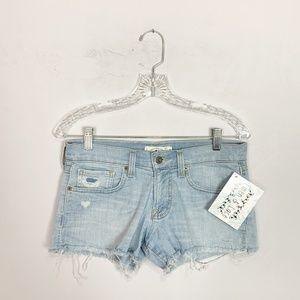 Lucky Brand cut off denim shorts light wash 24